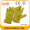 Желтый Корова кожа с промышленной безопасности водителя Рабочие перчатки (12202)