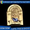美しい方法カスタムブランク蝶金属の折りえりピン