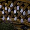 Quirlande électrique d'abat-jour de PVC de 15 DEL de jardin de chaîne de caractères solaire d'usager