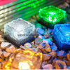 Lâmpada de cristal do jardim da luz solar do trajeto do cubo de gelo do tijolo do diodo emissor de luz
