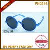 Forme des lunettes de soleil rondes d'armature de PC pour les enfants (FK0216)