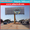 Pilar Único Outdoor Advertising Billboard com Poster Flex PVC