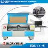 Máquina tejida automatizada del laser Cuttting de la cámara de vídeo de las escrituras de la etiqueta