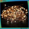 Lumière chaude de chaîne de caractères du blanc DEL de câblage cuivre décoratif de Noël