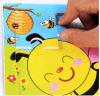 목제 아름다운 흥미로운 꿀벌 수수께끼