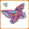 カスタムロゴの高品質の絹のサテンのアクリルのスカーフ