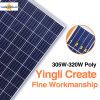 Principal chinois fournisseurs Yingli de 10 picovoltes un module de panneau solaire de pente avec le bon prix