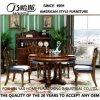 Tableau dinant rond à la maison en bois solide de meubles de qualité (AS836)