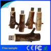 USB de madera de la memoria de la ramificación del USB del mecanismo impulsor de madera natural del flash