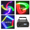 свет диско лазерного луча RGB выставки лазерного луча 3D