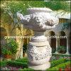 Plantador cinzelado pedra, potenciômetro de flor de mármore do jardim (GS-FL-002)