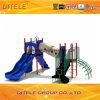 114mm galvanisierter Pfosten-bunter luxuriöser geneigter Schleichen-Tunnel und doppelte Wellen-Plättchen-Kind-im Freienspielplatz-Gerät
