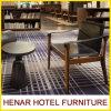 Cadeira moderna do braço da mobília do quarto do hotel da madeira contínua do estilo de India