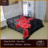 Одеяло норки качества 100% Raschel полиэфира с романтичной конструкцией цветка