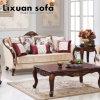 旧式な様式の居間のための愛シート椅子そして表とセットされる標準的なファブリックソファー