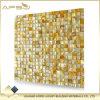 Baumaterialien Küche und Badezimmer-quadratische gelbe LippenBacksplash Perlmuttshell-Mosaik-Fliesen für Wand-Dekoration