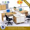 Kirschbüro-Möbel L Form-Arbeitsplatz-Büro-Zelle (HX-6M197)