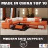 Sofa moderne sectionnel de cuir de forme des meubles U de modèles réglés de sofa