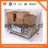 Jaulas de acero superficiales del almacenaje del cinc con las ruedas, Cage&#160 bloqueable; para Japón