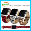 Полоса планки вахты Bling Bling кожаный для Apple Iwatch