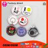 Coutume estampée autour de l'insigne de bouton de Pin avec la goupille de sécurité