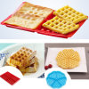Molde Nonstick do Waffle do molde do silicone da forma do retângulo do produto comestível