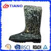 Напечатанные леопардом ботинки дождя PVC для повелительницы (TNK70017)