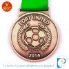 Medaglia di gioco del calcio/calcio di sport di rame poco costoso 2D per porta unita