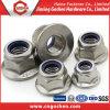 Écrou en nylon A2~70 de bride d'insertion d'hexagone d'acier inoxydable