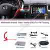 Multimédios da navegação do carro para VW sistema de Volkswagen Touareg 6.5  e registrador Android da câmara de vídeo do carro
