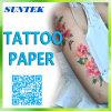 Tipo de la etiqueta engomada del tatuaje de la inyección de tinta y papel temporal del tatuaje de la carrocería