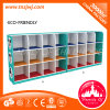 School를 위한 세륨 Standard Kids Cartoon Furniture 다중 Squared Wooden Bag Cabinets