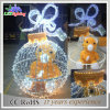 Luz ao ar livre/interna do urso do diodo emissor de luz 3D da decoração do feriado de Natal