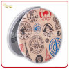 Form Design Customized Printed Leather Cosmetic Mirror mit Paris Gift