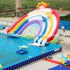 Съемный спорт парка воды Toys раздувное скача скольжение воды