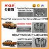 Kits légers de Navara de nouvelle d'arrivée de Navara Np300 de lampe de monture de couverture de chrome d'accessoires de carbone de fibre de tête de lumière arrière collecte légère de couverture