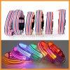 Das Streifen-Entwurfs-Nylonblinken leuchten LED-Hundehalsring