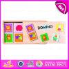 2015 caselle di legno che imballano i capretti il giocattolo impostato domino, prodotti stabiliti del mini gioco di domino dei bambini, viaggiano gioco di legno W15A012 stabilito di domino del giocattolo