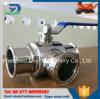 Estremità a tre vie igienica della valvola a sfera dell'acciaio inossidabile TC
