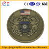 Lion antigo Embossed Military Metal Challenge Coin em América