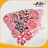 ピンクのフランネルの綿織物