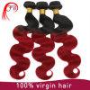 Китайский красный соткать волос Remy объемной волны (волосы 100%human)