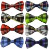 British Fashion Polyester Silk Plaid Hommes Bowties