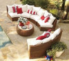 Mobilia esterna S209 di svago del giardino del sofà della mobilia del sofà di vimini esterno del rattan