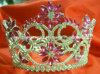 Tiara da representação histórica do Rhinestone, coroa H-38077 da representação histórica para o baile de finalistas para a princesa