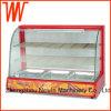 Showcase de vidro comercial do indicador do aquecedor de alimento