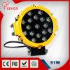 lampada rotonda del lavoro di 7  51W LED