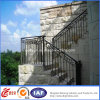 Pasamano al aire libre ornamental de la escalera del hierro labrado