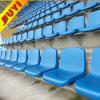 BLM-1308 linda del hierro de madera con patas de metal blanco de precios Patio de diseño Mesas y Sillas de béisbol de plástico plegable asiento del estadio