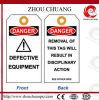 Pvc Label en Tags van de veiligheid met Danger Information